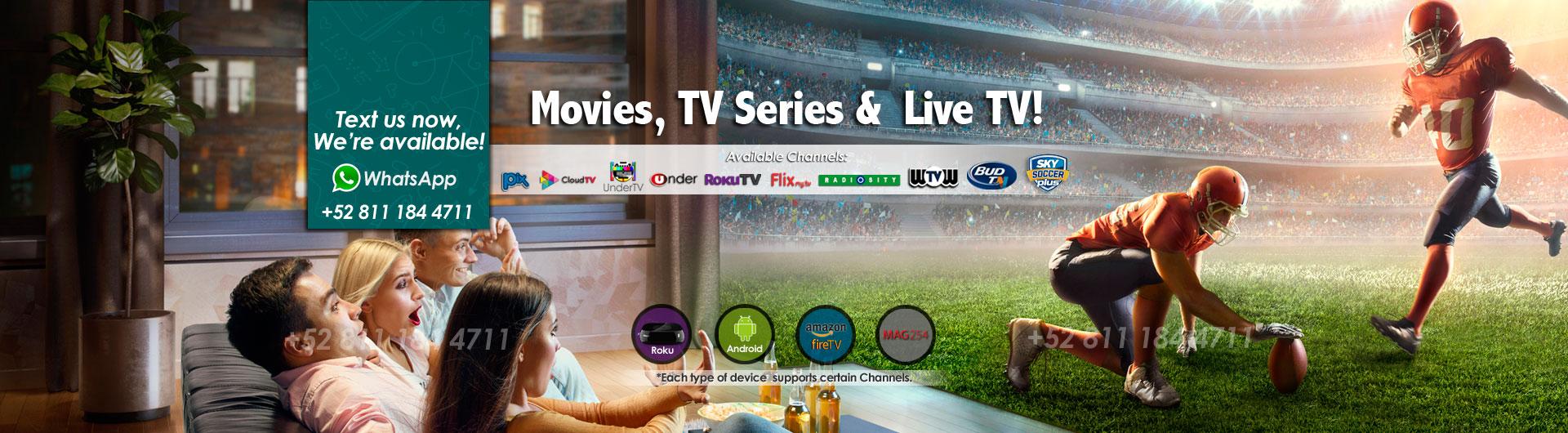 Logo Pix TV con Roku 3 y descripcion del servicio